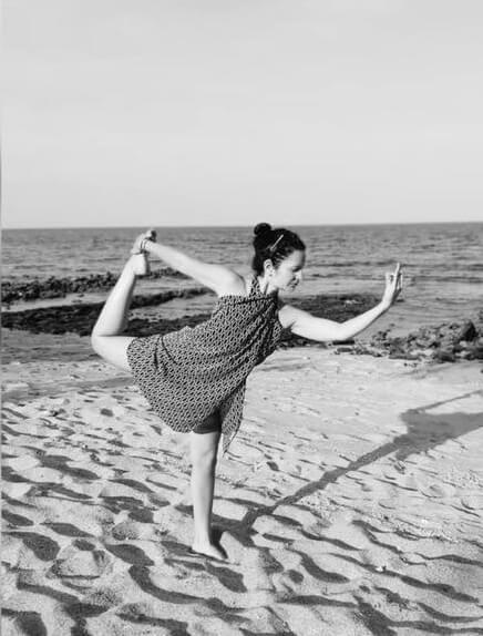 Csarnai Bea jógaoktató